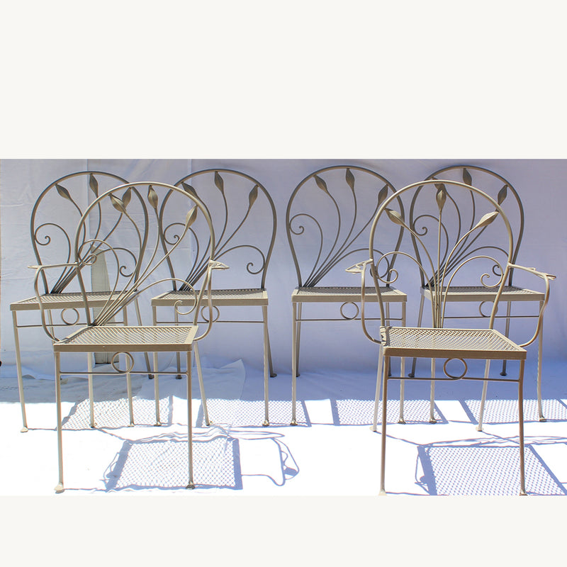 Salterini Garden Table  and Set of 6 Chairs