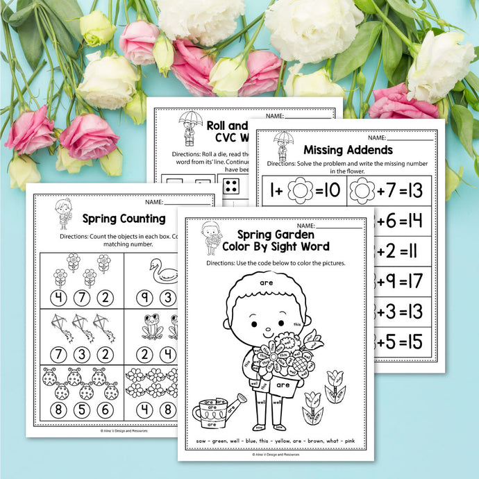 FREE Spring Worksheets For Kindergarten