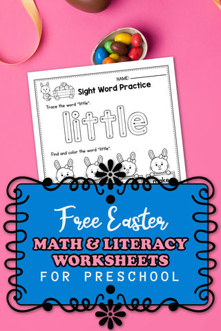 FREE Printable Easter Worksheets For Preschool