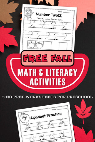 Free Printable Fall Worksheets For Preschool