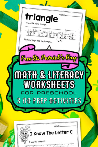 FREE St. Patrick's Day Worksheets For Preschoolers