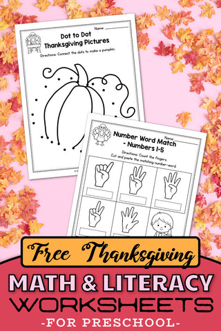 Free Printable Thanksgiving Worksheets For Preschool