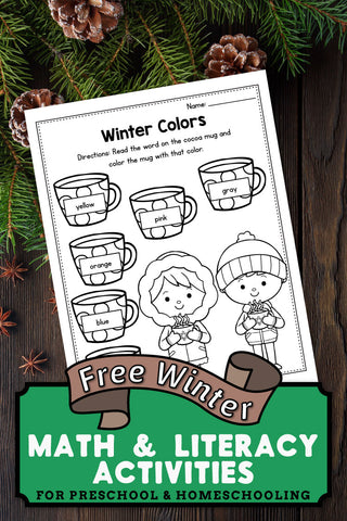Free Printable Winter Worksheets For Preschool