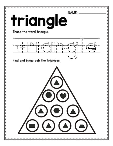 Triangle practice worksheet for preschool