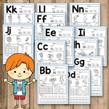 Load image into Gallery viewer, Alphabet Worksheets A-Z - Beginning Sounds Practice - INSTANT DOWNLOAD