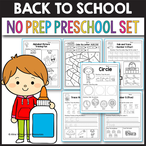 Back to School Activities for Preschool