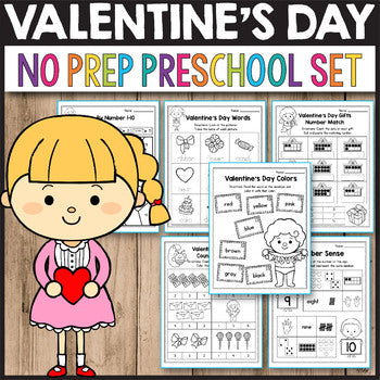 Valentine's Day Activities for Preschool, Valentine's Day Math