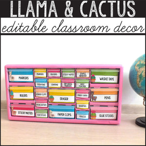 Llama Classroom Decor Bundle INSTANT DOWNLOAD