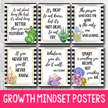Load image into Gallery viewer, Growth Mindset Posters - Succulent Decor INSTANT DOWNLOAD
