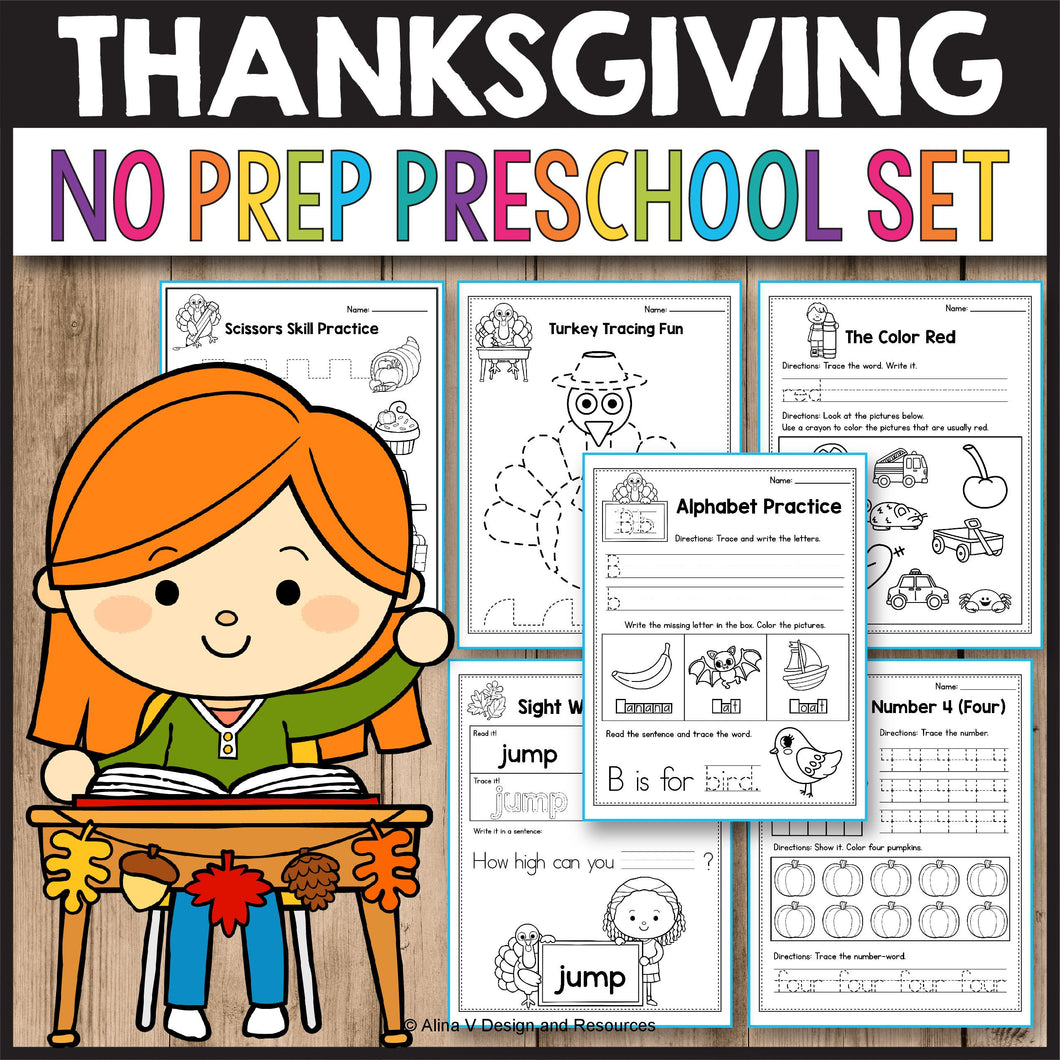 Thanksgiving Activities for Preschool