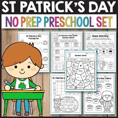 St Patrick's Day Activities for Preschool, St Patrick's Day Math
