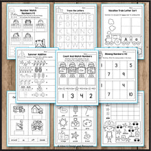 Load image into Gallery viewer, Summer Activities for Preschool, Summer Math Worksheets