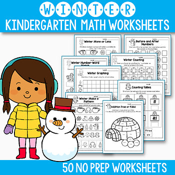 Winter Activities For Kindergarten - Winter Math Worksheets