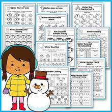 Load image into Gallery viewer, Winter Activities For Kindergarten - Winter Math Worksheets