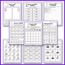 Load image into Gallery viewer, Summer Math Worksheet, End of Year Activities Math, Summer Packet Kindergarten