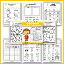 Load image into Gallery viewer, Summer Activities For Kindergarten (Literacy No Prep) - Summer Review