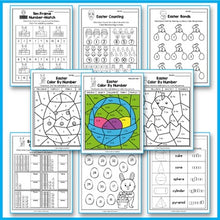 Load image into Gallery viewer, Easter Activities For Kindergarten - Easter Math Worksheets