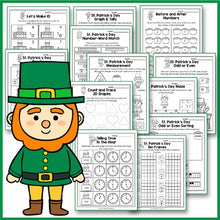 Load image into Gallery viewer, St Patrick's Day Activities Kindergarten, St Patrick's Day Math Worksheets