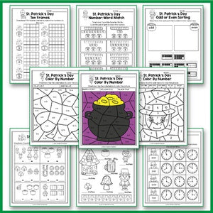 St Patrick's Day Activities Kindergarten, St Patrick's Day Math Worksheets
