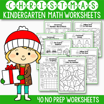 Christmas Activities Kindergarten - Christmas Math Worksheets