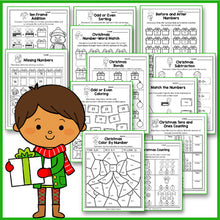 Load image into Gallery viewer, Christmas Activities Kindergarten - Christmas Math Worksheets