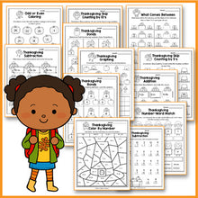Load image into Gallery viewer, Thanksgiving Activities Kindergarten - Thanksgiving Math Worksheets