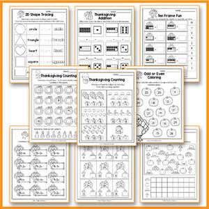 Thanksgiving Activities Kindergarten - Thanksgiving Math Worksheets