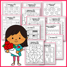 Load image into Gallery viewer, Valentine's Day Activities Kindergarten,  Valentines Day Math