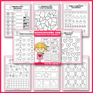 Valentine's Day Activities Kindergarten,  Valentines Day Math