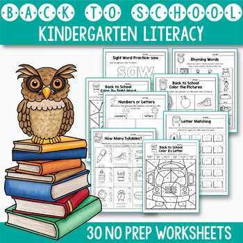 Back To School Activities For Kindergarten Literacy