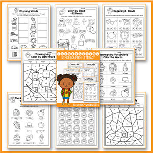 Thanksgiving Activities For Kindergarten Literacy No Prep