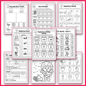Valentine's Day Activities For Kindergarten Literacy No Prep
