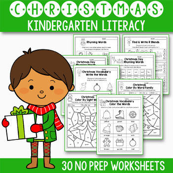 Christmas Activities For Kindergarten Literacy No Prep