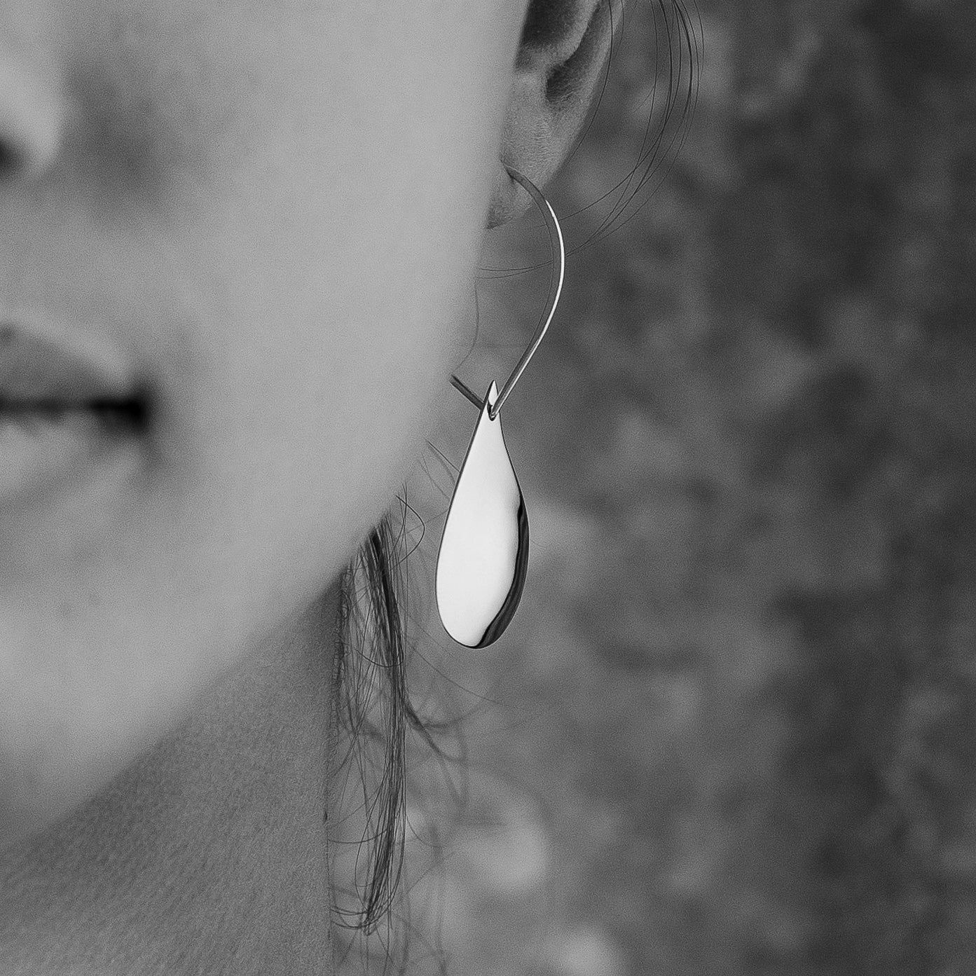 Sterling Silver Large Mully Raindrop Earrings