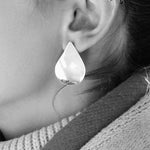 Sterling Silver Mully Raindrop 'Mega Drop' Earrings