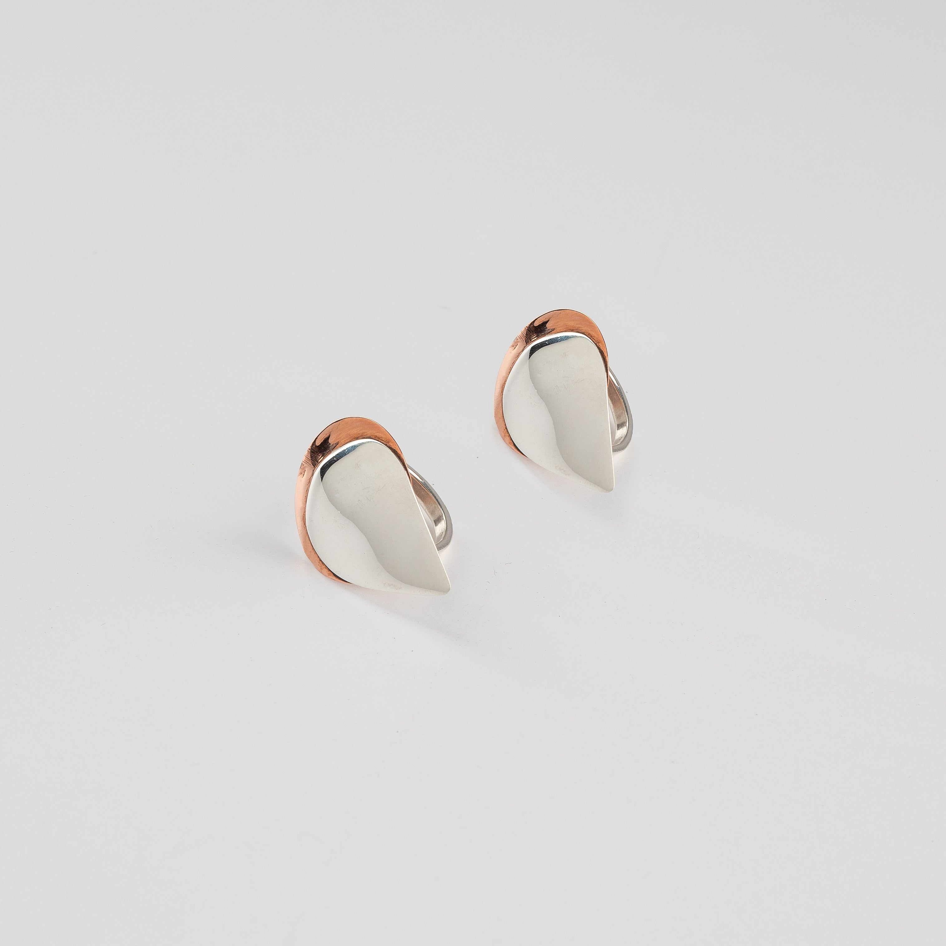 Sterling Silver & Copper Mully Raindrop Mega Ring