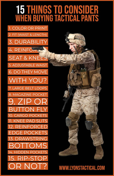 15 Things To Consider When Buying Tactical Pants [Infographic]
