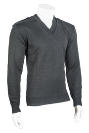 V-Neck Military with Velcro Epaulets, Poly-Cotton Shoulder and Elbow Patches