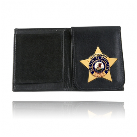 Book Style Badge Case Flip Out Badge Flap