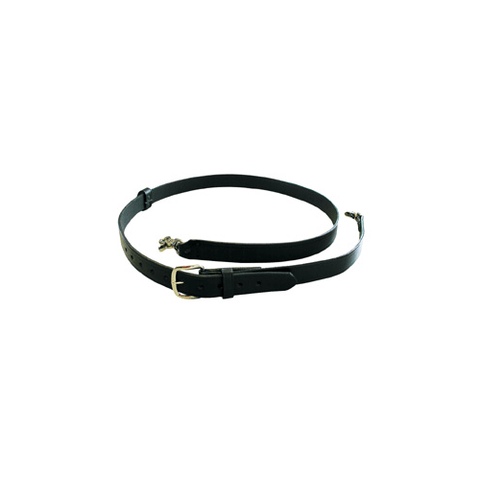 Boston Leather 1 3/4 Velcro Leather Tipped Belt