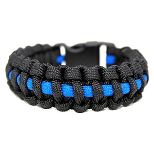 Thin Blue Line 550 Paracord Survival Bracelet