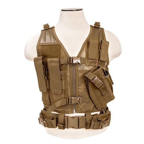 Vism Tactical Vest Tan-XS-Sm