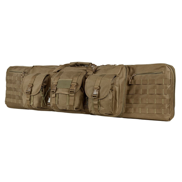 Vism Deluxe Double Rifle Case 55 inL x 13 inH-Tan