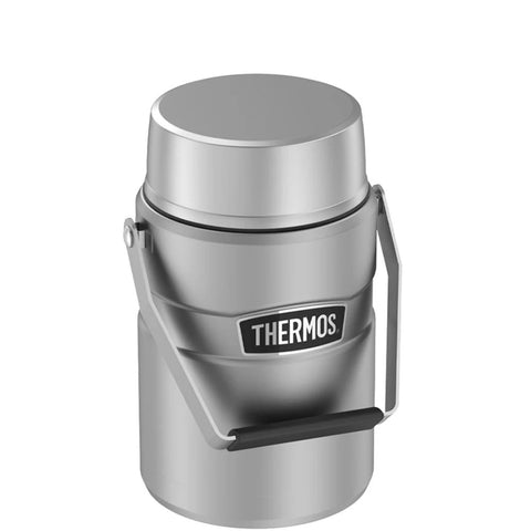 Thermos 47 oz SS Food Jar w Inner Containers Silver