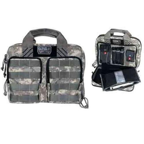 G.P.S. Tactical Quad Plus 2 Pistol Case Digital Camo