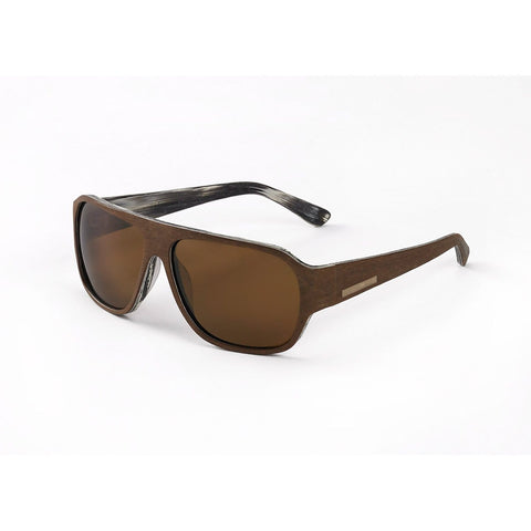 Hang Ten Gold The Balsa Fish-Brown 2 Tone Wood-Brown Lens