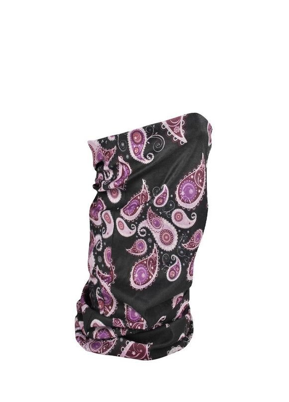 ZANheadgear Fleece Lined Motley Tube - Purple Paisley