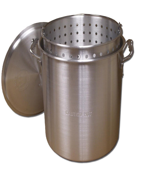 King Kooker #KK32-32 Qt. Aluminum Pot with Basket and Lid