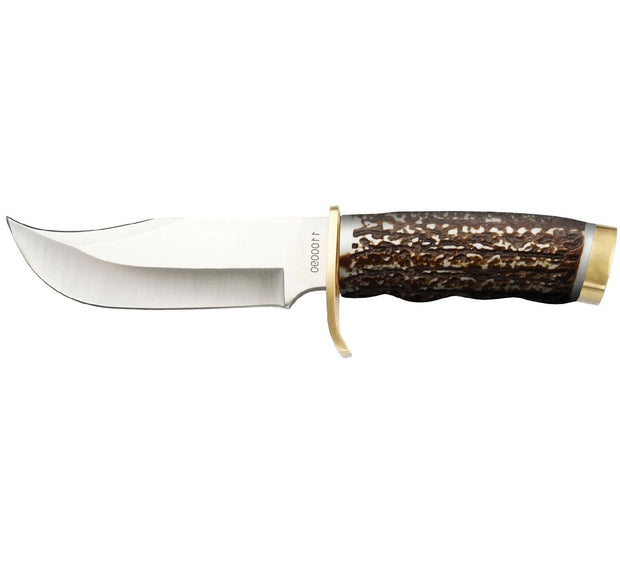 Uncle Henry Fixed Blade 5.5 in Blade Staglon Handle