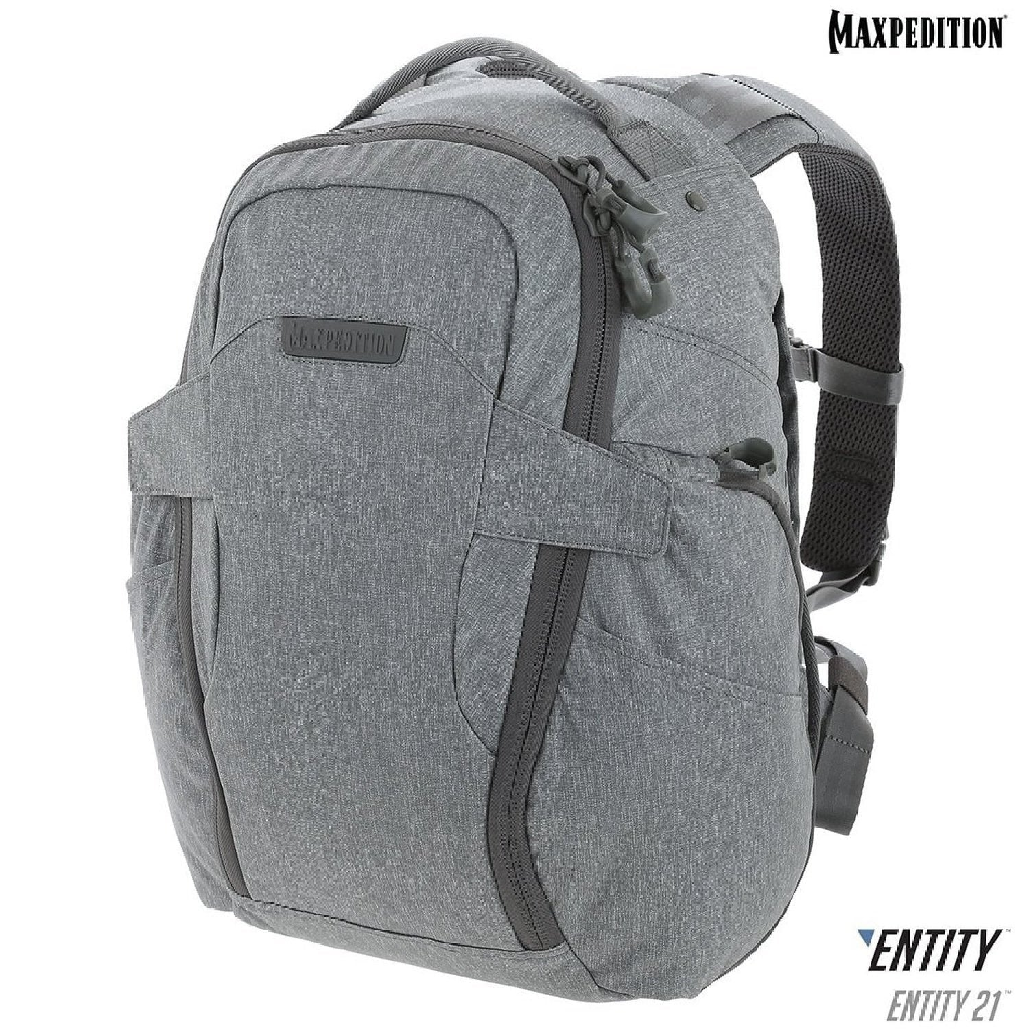 f677c8f3e0 Maxpedition ENTITY 21 CCW-Enabled EDC Backpack 21L Ash